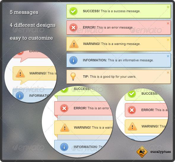 Clean Notification Boxes - Web Elements