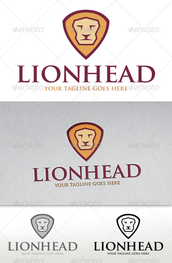 GraphicRiver Lion Head Logo 2679370