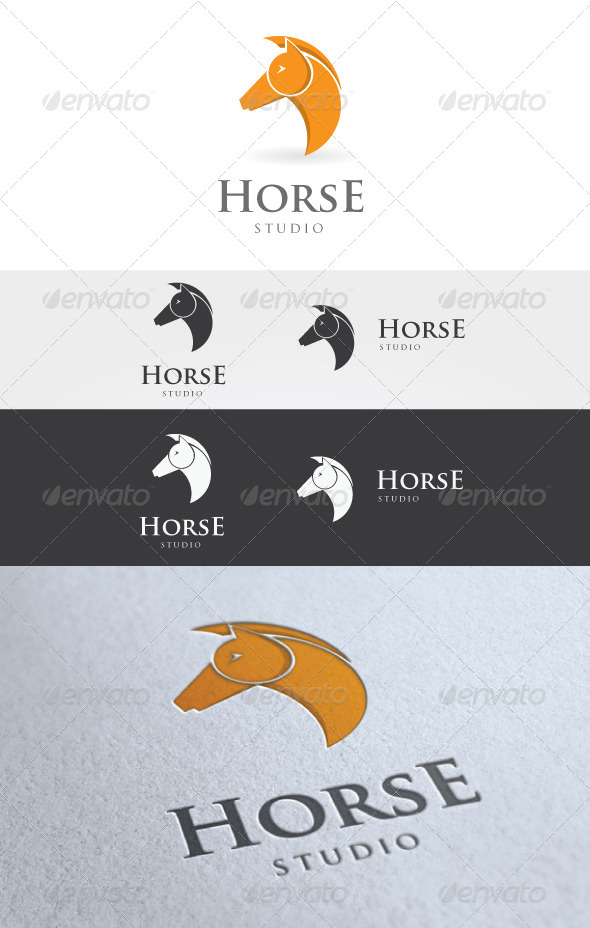 Horse Studio Logo  - Animals Logo Templates