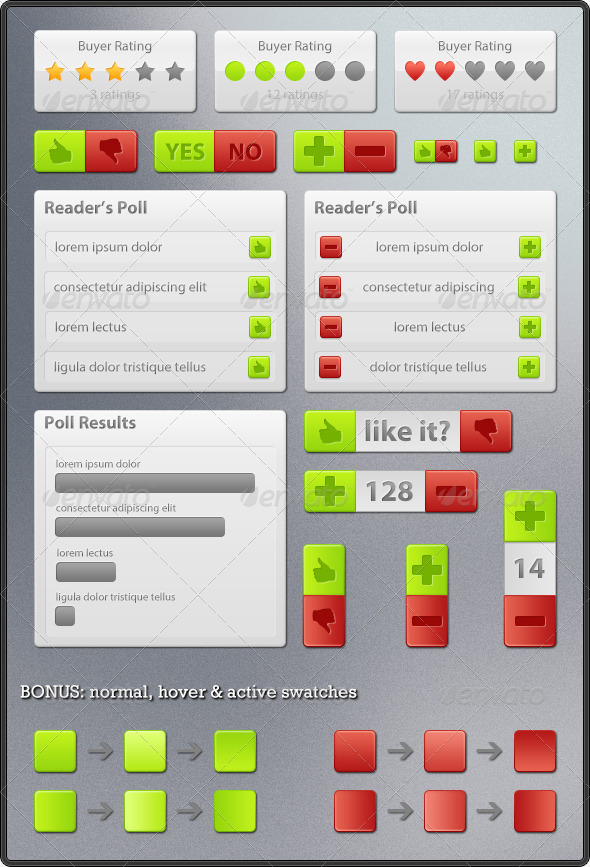GraphicRiver Rating & Voting Elements 145637