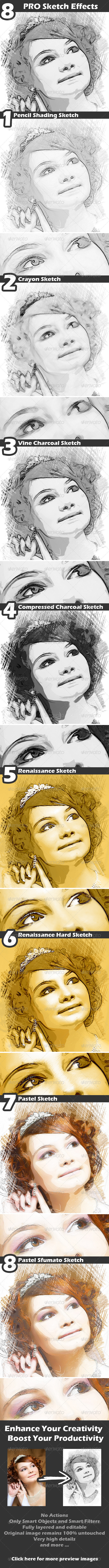 Sketch Effects - Artistic Photo Templates