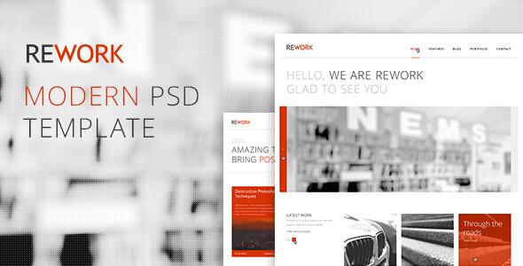 REWORK - Modern PSD Template