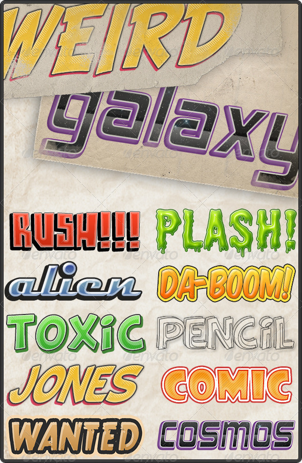 GraphicRiver Comic Text Styles 135351