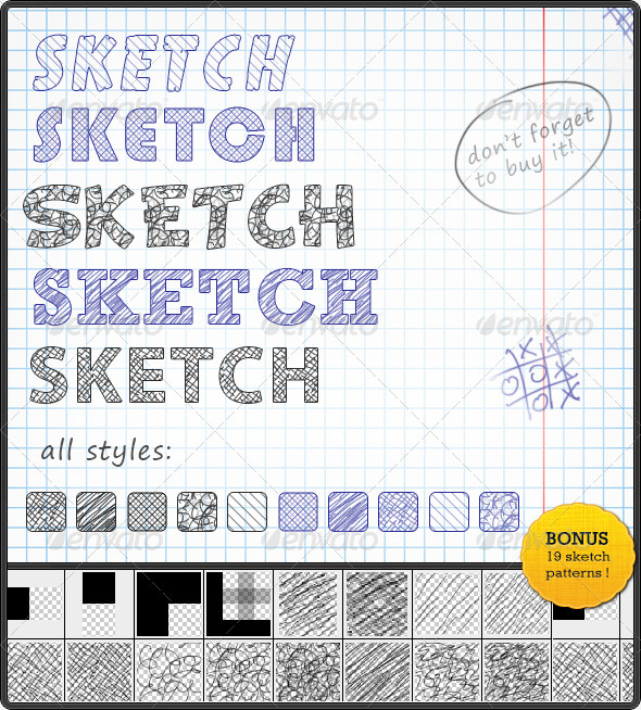GraphicRiver Sketch Text Styles 136428
