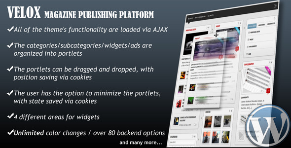 VELOX-Drag & Drop Magazine Publishing Platform - Velox - AJAXIFIED DRAG & DROP MAGAZINE PUBLISHING THEME