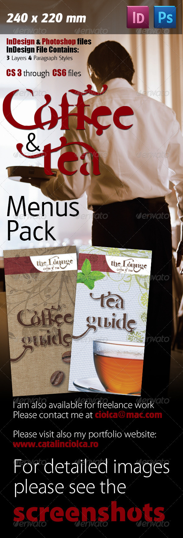 Coffee And Tea Menus Pack - Restaurant Flyers