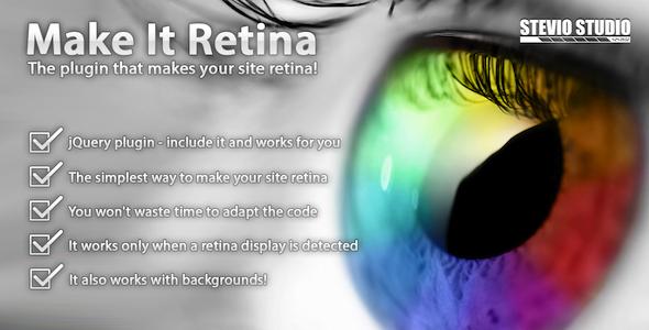 CodeCanyon Make It Retina jQuery plugin for retina display 2680313