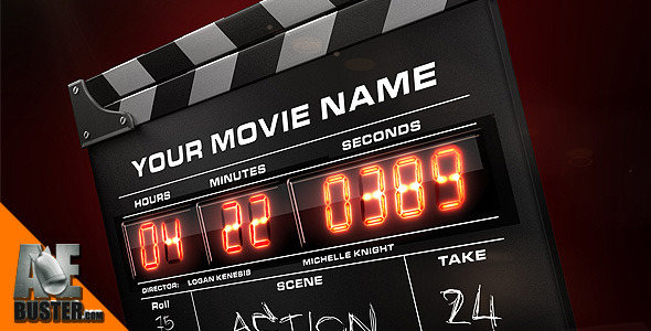 After Effects Project - VideoHive Hollywood Film Clapper Pro 2680344