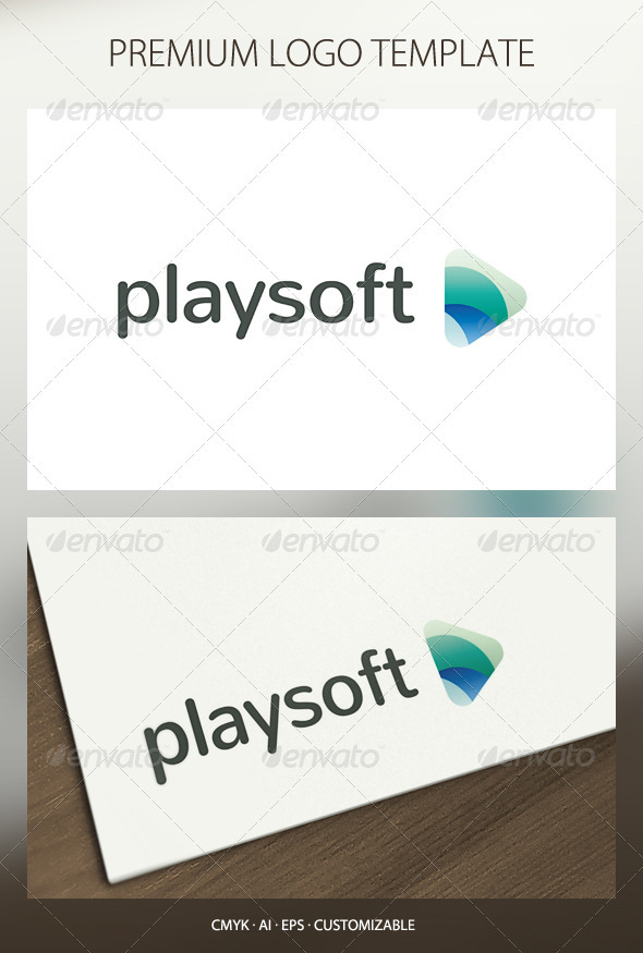 Playsoft Logo Template - Abstract Logo Templates