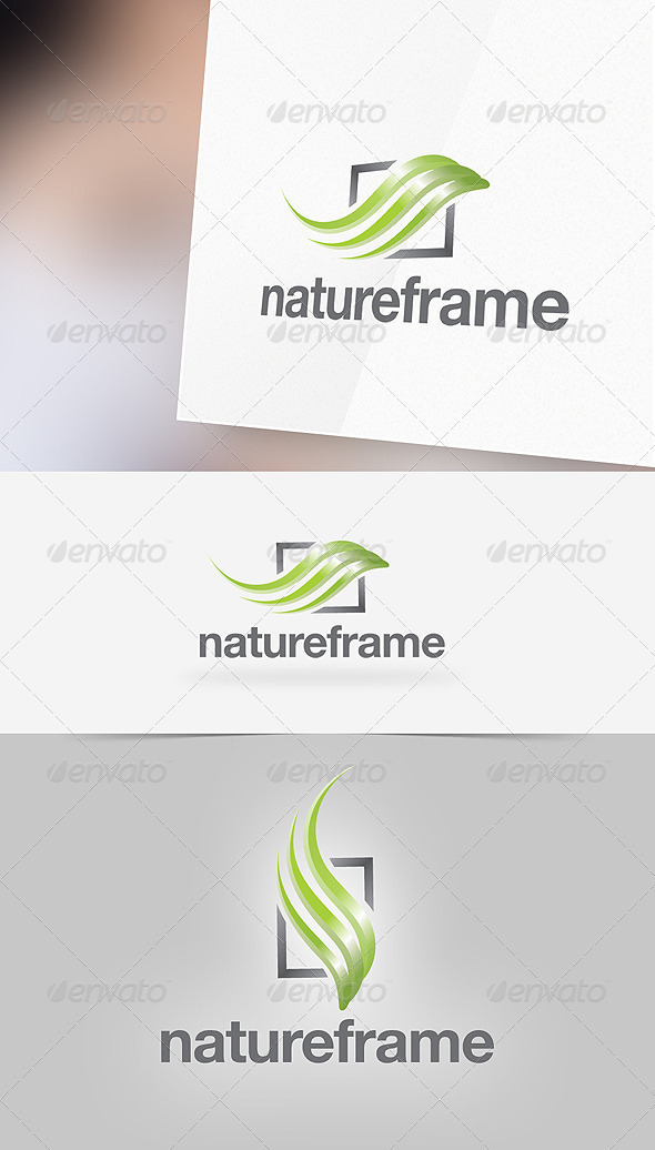 GraphicRiver Nature Frame Logo Template 2668675