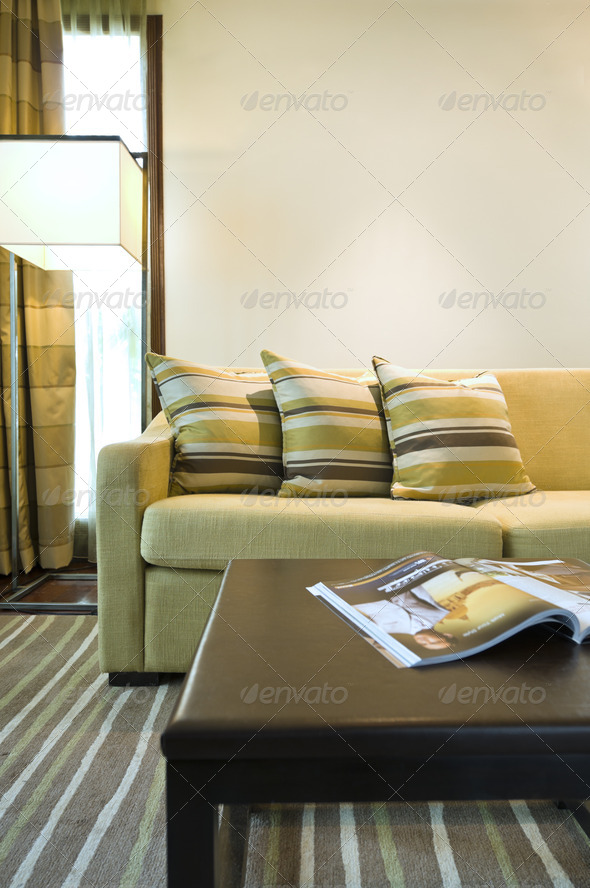 Seating area of a luxury living room - Stock Photo - Images