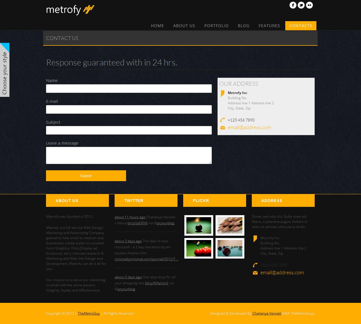 Metrofy - Responsive Metro Inspired Template