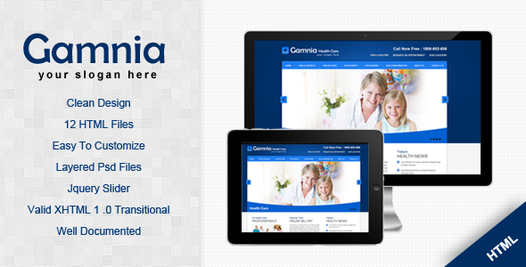 ThemeForest Gamnia Health Care Template 2674708