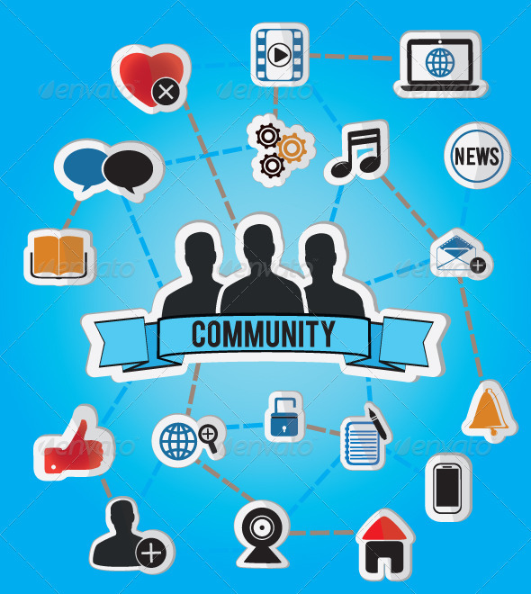 GraphicRiver Concept of Community 2659432