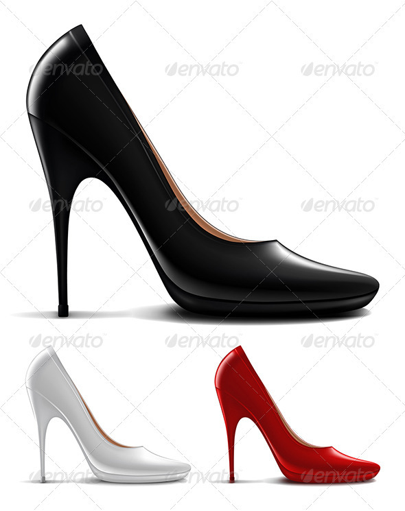 Multicolored high heel shoes  - Commercial / Shopping Conceptual