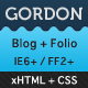 Gordon - HTML Blog / Portfolio
