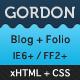Gordon – HTML Blog / Portfolio  Free Download
