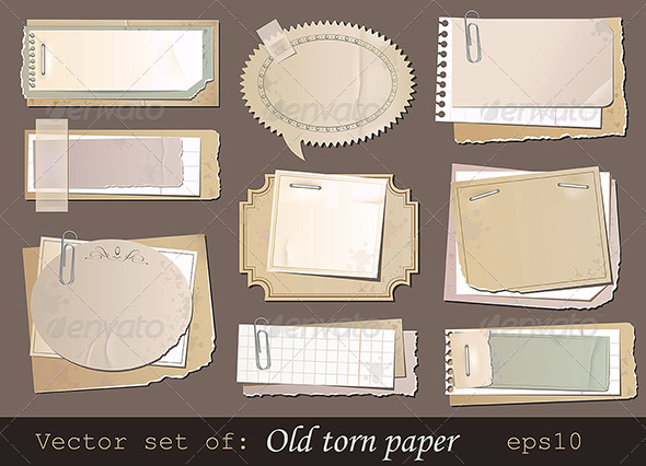 Old torn paper  - Retro Technology