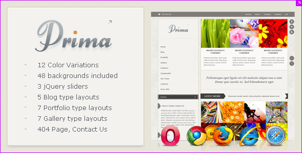 Prima - Creative and Clean Website Template