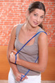 Woman with a skipping rope
