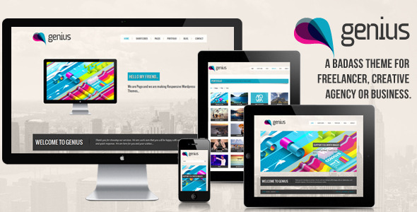 ThemeForest GENIUS Responsive Wordpress Theme 2683238