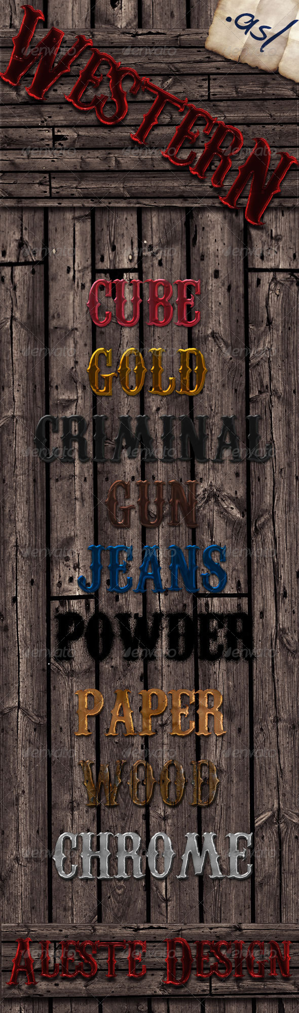 10 Western Styles - Text Effects Styles
