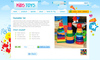 Download website template Kids Toys