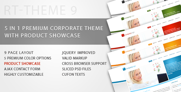 ThemeForest RT-Theme 9 Business Theme with Product Showcase 96911