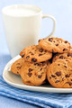 Milk And Chocolate Chip Cookies - PhotoDune Item for Sale