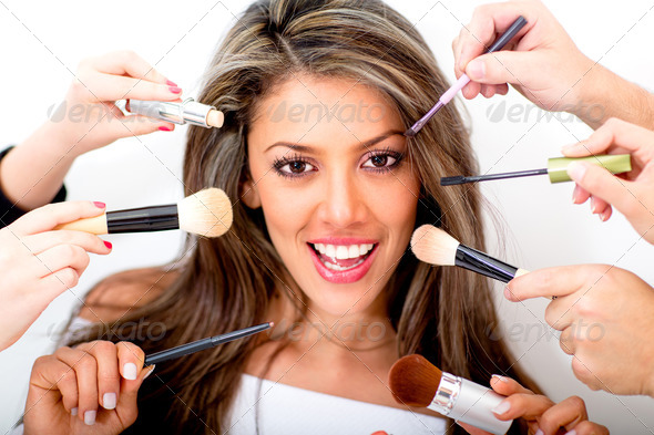 Woman at the beauty salon - Stock Photo - Images