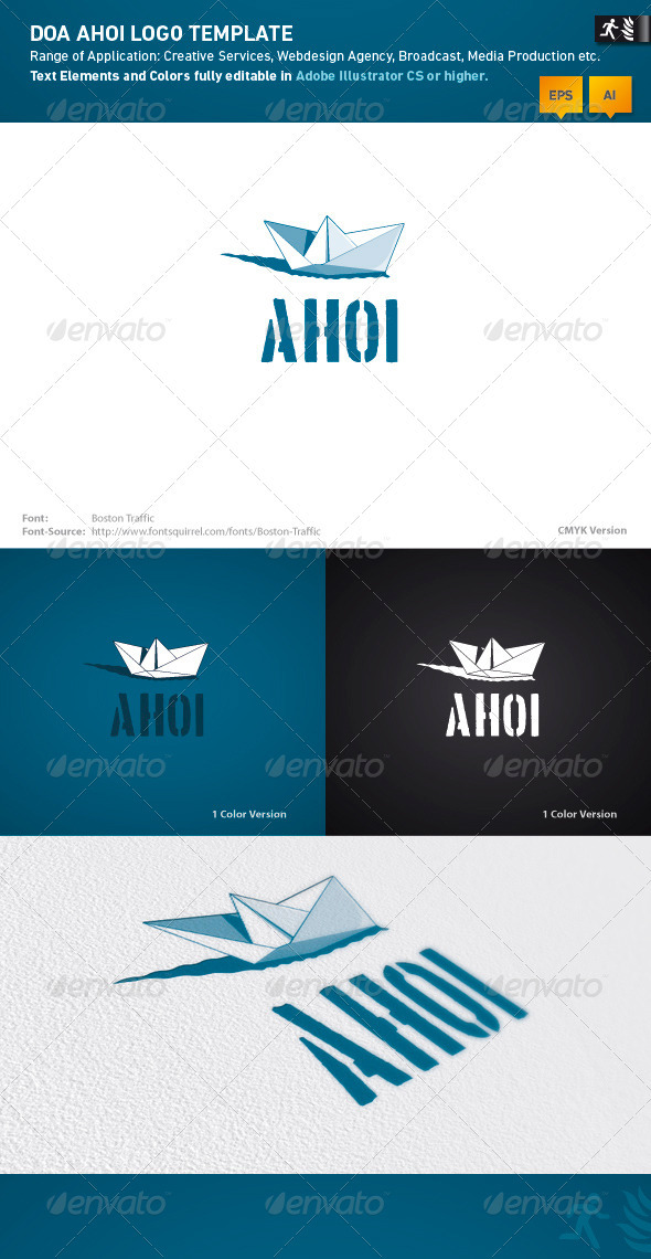 DOA Ahoi Logo Template - Objects Logo Templates