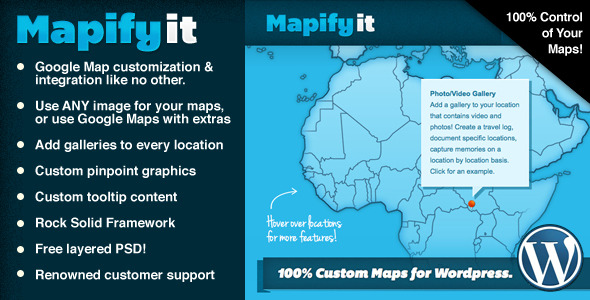 CodeCanyon Mapify.it 100% Custom Google Maps for Wordpress 2577184