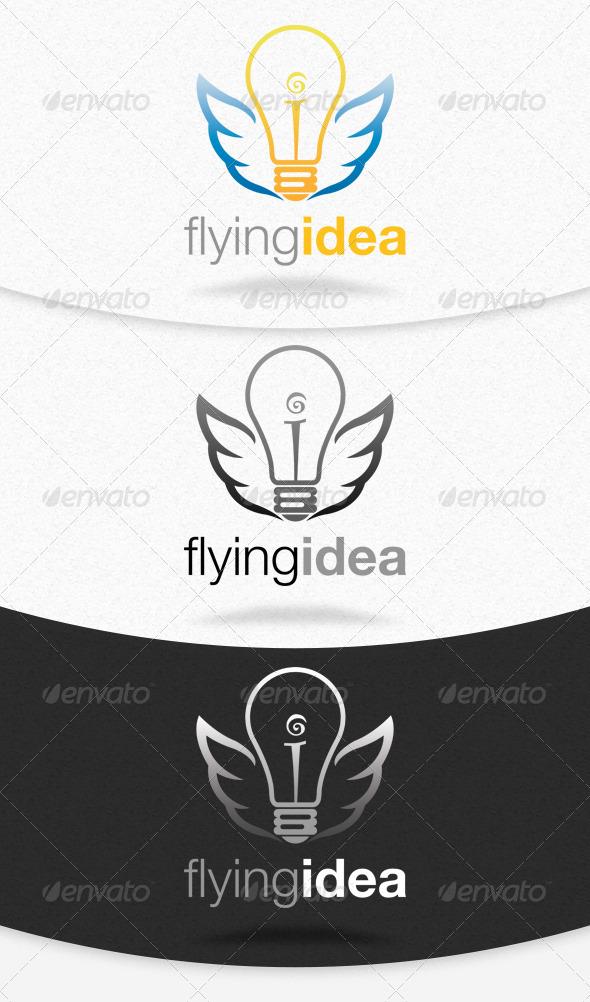 Flying Idea Logo Template - Symbols Logo Templates