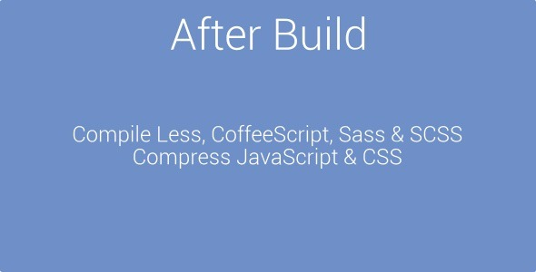 CodeCanyon After Build Compiling & Compression Tool 2684817