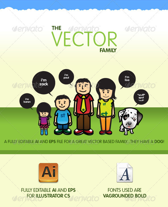 Vector Family - Characters Vectors