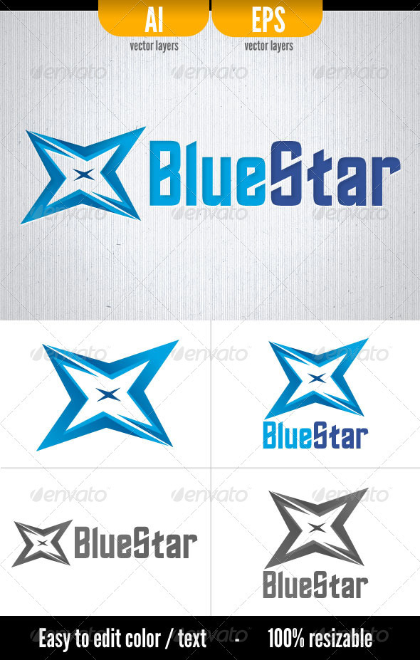 Blue Star - Logo Template