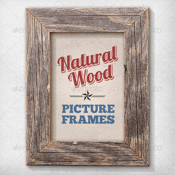 GraphicRiver 11 Isolated Natural Wood Picture Frames 2686798