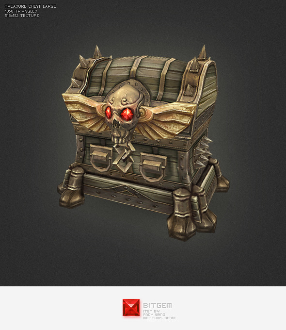 3DOcean Low Poly Treasure Chest Large 2687070