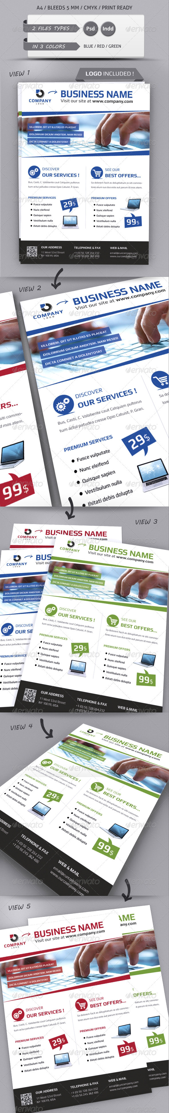 GraphicRiver MODERN BUSINESS FLYER TEMPLATE A4 2687576
