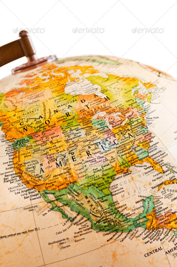Stock Photo - PhotoDune Globe North America 183618