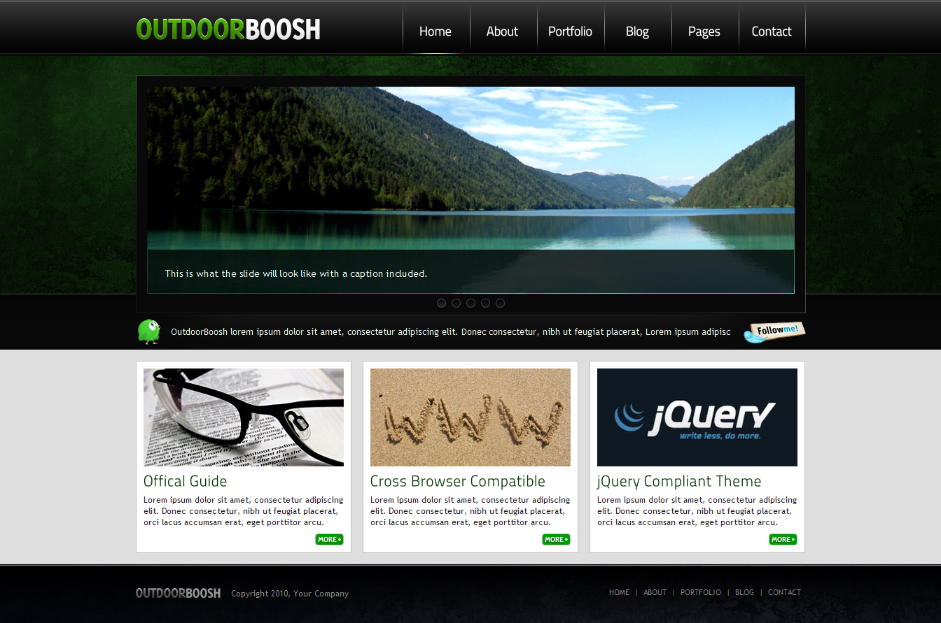 OutdoorBoosh - Premium Professional HTML Theme