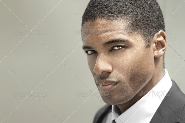 Young serious man - Stock Photo - Images