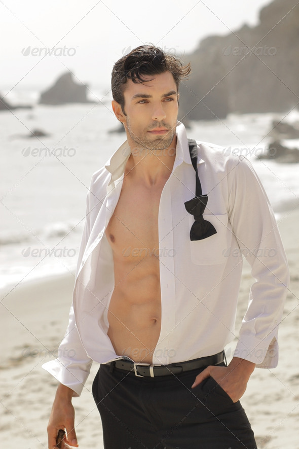Handsome sexy guy - Stock Photo - Images