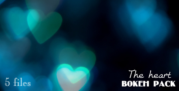 The heart bokeh pack