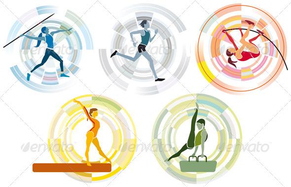 Five Sports Disciplines - Sports/Activity Conceptual