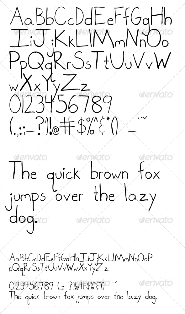 Hand Drawn Letters - Sans-Serif Fonts