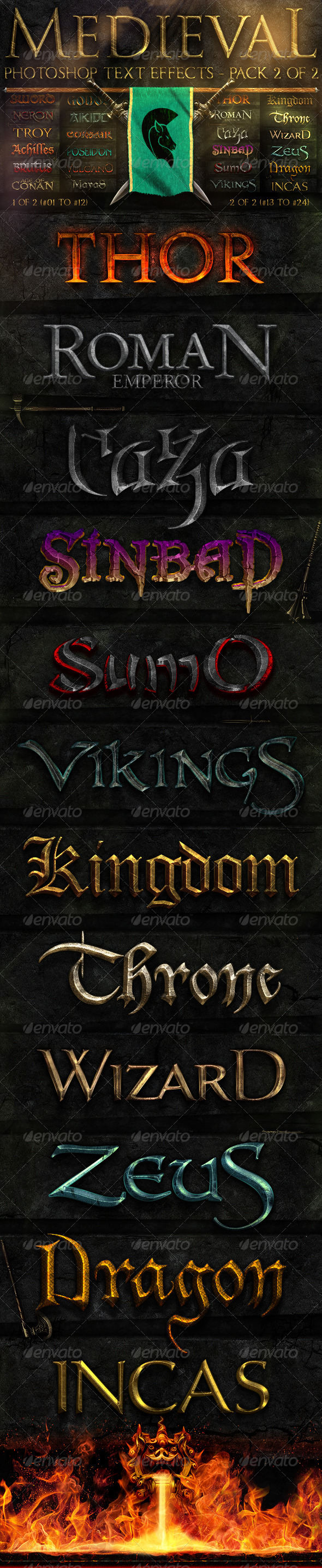 GraphicRiver Medieval Photoshop Text Effects 2 of 2 289731