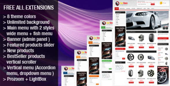 ThemeForest Accessories Car Magento Theme 662796