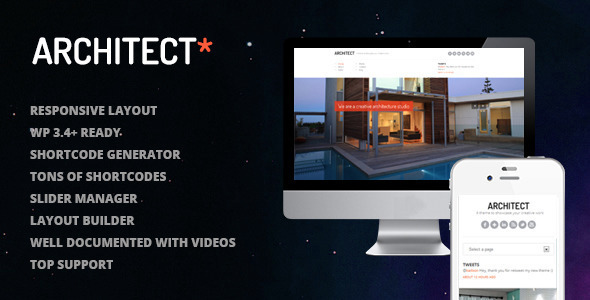 Architect - A New WordPress Premium Theme for Creatives