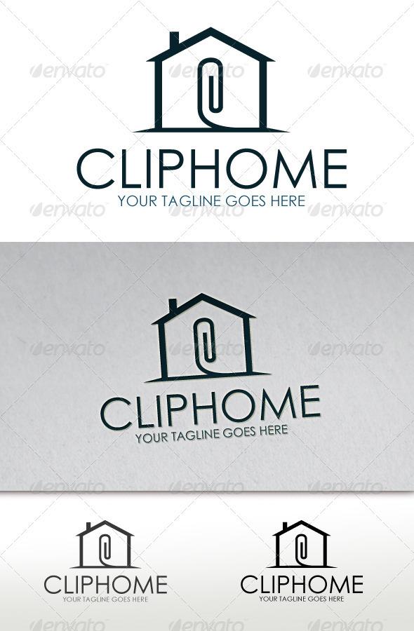 Clip Home Logo - Buildings Logo Templates
